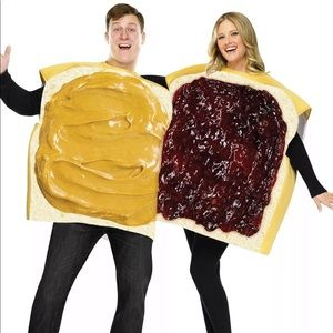 Couples Peanut Butter & Jelly Halloween Costume